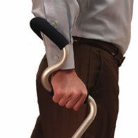 """StrongArm forearm cane offers firm support provides for safer mobility as it greatly improves the dynamic balance."""" This walking aid provides support, stability, and control, ensuring a comfortable walking experience."""