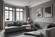 Inside a Refined Stockholm Apartment in Shades of Grey - Nordic Design Style At Home, Living Room Interior, Living Room Decor, Living Rooms, Stockholm Apartment, Interior And Exterior, Interior Design, Interior Decorating, Home Room Design