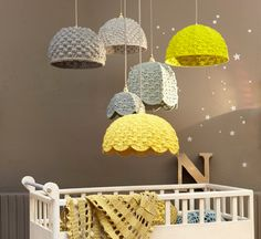 Learn to crochet these gorgeous lampshades - http://www.home-dzine.co.za/crafts/craft-crochetlight.htm