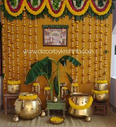 DecorbyKrishna, authentic and eco-friendly traditional home based events wedding and floral decorations Housewarming Decorations, Diy Diwali Decorations, Marriage Decoration, Wedding Stage Decorations, Backdrop Decorations, Festival Decorations, Flower Decorations, Wedding Backdrop Design, Desi Wedding Decor