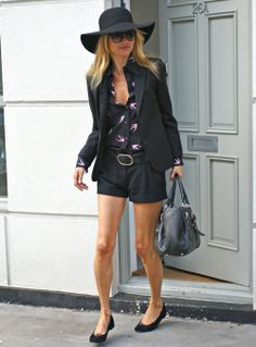 Kate Moss hat and shorts