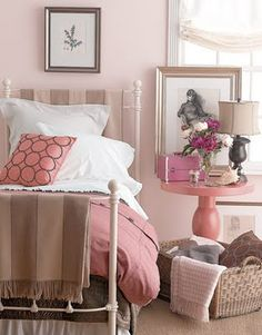 BM Touch of Pink Bedroom Design Ideas - Guide to Bedroom Decorating - Country Living Pink Bedrooms, Guest Bedrooms, Girls Bedroom, Guest Room, Bedroom Decor For Women, Cottage Bedrooms, Pink Room, My New Room, Beautiful Bedrooms