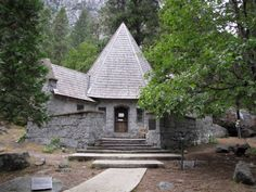 LeConte Memorial Lodge in Yosemite Valley is a National Historic Site at Yosemite National Park, California, USA.  Sierra Club.