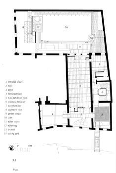 Ground floor plan. Palazzo Querini Stampalia by Carlo Scarpa, 1961-1963.