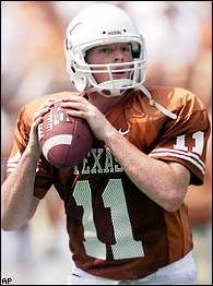 Major Applewhite:  My favorite UT player of all time.