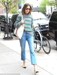 Strolling: The beauty was no doubt enjoying a relaxing stroll around Manhattan before her ...