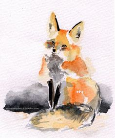 See and Sketch: Watercolour Red Fox