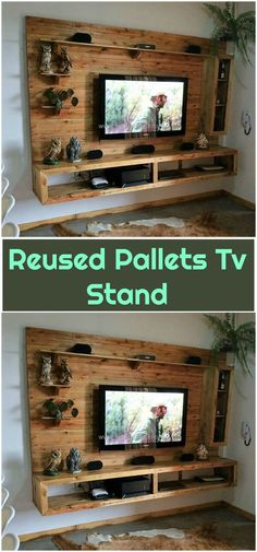 these creative and fresh wooden pallets ideas with help you to fulfill your desires. These pallet ideas will make you a creative person!Reused Pallets Tv Stand