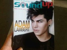 (April 2013, Indonesia) Adam Lambert on the cover of Sound Up Magazine | Source: @Indoglam and @Soundup_magz