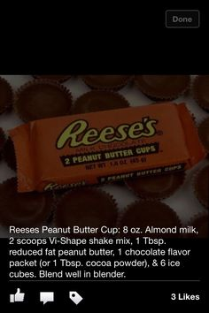 Reese's VISALUS shake  Check out my website to start your own 90 day challenge www.RhondaOmara.bodybyvi.com