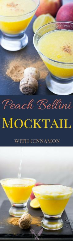 But occasionally we get a batch that's turning a little too soon, which gives us the perfect excuse to enjoy our twist on a Peach Bellini mocktail.