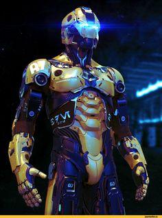 Sci-Fi,art,арт,красивые картинки,киборг,воин,Concept,Кликабельно