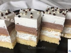 Dancs szelet recept lépés 5 foto My Recipes, Sweet Recipes, Cake Bars, Winter Food, Vanilla Cake, Tiramisu, Food And Drink, Sweets, Snacks