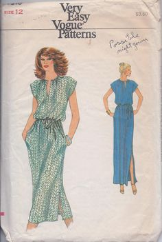 Vogue 7310 VINTAGE Misses Sleeveless Blouson by ReduxPatterns (Craft Supplies & Tools, Patterns & Tutorials, Sewing & Needlecraft, Sewing, misses, women, pattern, sleeveless, vintage, dress, vogue, gathered neckline, pull over, elastic waist, maxi, blouson, slim)