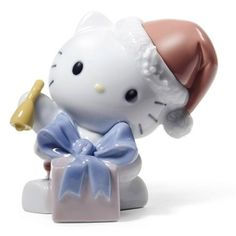 NAO HELLO KITTY HAPPY HOLIDAYS FIGURINE .NEW IN BOX.