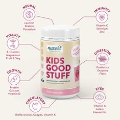 Kids Good Stuff is a great way to help your kids get all the nutrients they need to keep them happy and healthy from the inside out. Kids Branding, Branding Design, Calcium Sources, Bindi Irwin, Eye Vitamins, Best Probiotic, Smoothie Mix, Vitamin K, Healthy Heart