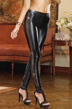 Dreamgirl Hellfire Club Glanz Leggings Größe S 36, M 38, L 40. Jetzt bei www.easyfunshop.net