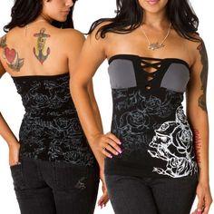 Metal Mulisha Womens Jackson Tube Top – Black X Med Size