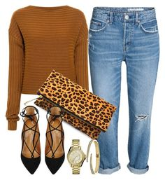 """Leo Print"" by monmondefou ❤ liked on Polyvore featuring TIBI, Aquazzura, brown, LeopardPrint and animalprint"