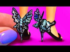Barbie Dolls Diy, Diy Barbie Clothes, Barbie Shoes, Doll Shoes, Barbie Dress, Ag Dolls, Barbie Stuff, Girl Dolls, Mermaid Barbie