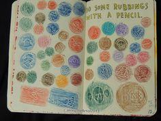 pencil_rubbings___wreck_this_journal_by_jennyarchibald-d5ro4kr.jpg 900×675 pixels