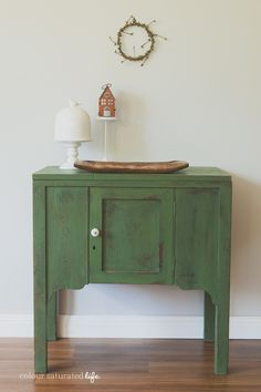 Colour Saturated Life   Miss Mustard Seed Milk Paint Boxwood Cabinet