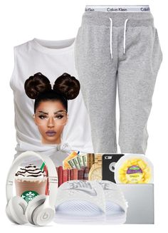 """""""#mylazyday"""" by ballislife ❤ liked on Polyvore featuring VILA, Calvin Klein Underwear, White Label, NIKE and Beats by Dr. Dre"""