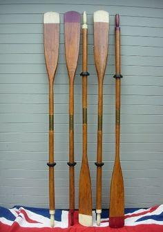 vintage rowing oars