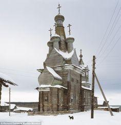 Abandoned Wooden Church - Vologda Oblast', Russia