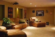 Such a cozy #basement #livingroom
