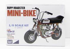 MPC 1960's Rupp Mini Bike 849 Plastic Model Kit Motorcycle 1/8 - Shore Line Hobby Vintage Models, Old Models, Vintage Toys, Motorcycle Model Kits, Motorcycle Bike, Plastic Model Kits, Plastic Models, Slot Car Tracks, Model Cars Kits