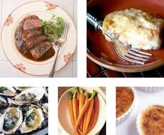Really great date night menu/ my favorite refinement of meat and potatoes