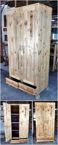 wood pallets closet plan