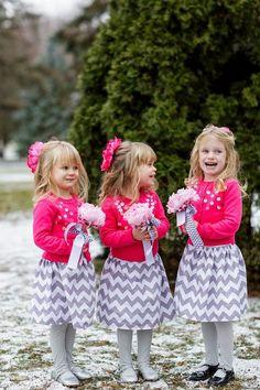 Chevron Flower Girl Dresses