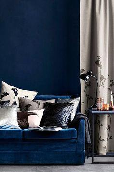 Colour Scheme - Small Living Room Ideas - Living Design Ideas & Pictures (houseandgarden.co.uk) - Dark Blue living room