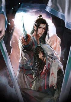 Lan Zhan's Untamed (Lan Zhan x Wei Wuxian) - The Fall of the Yiling Patriarch Sad Anime, Anime Love, Anime Guys, Manga Anime, Anime Art, Nezumi No 6, Matou, The Grandmaster, Shounen Ai