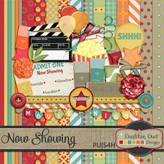 Digital Scrapbooking Now Showing Kit By Dandelion Dust Designs #DandelionDustDesigns #DigitalScrapbooking