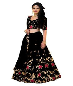 Women's Multi Color Banglori Silk Embroidery Work Semi Stitched Lehenga For Women (Free Size)/ad/sponsored/indian/traditional/lehnga under Lengha Choli, Silk Lehenga, Saree Dress, Silk Dupatta, Black Lehenga, Lehenga Online, Sarees Online, Satin Blouses, Embroidered Silk