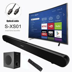 Xgody 40w Tv Soundbar Home Theater Subwoofer Wireless Bluetooth Coaxial Optical Home Theater Subwoofer Sound Bar Tv Sound