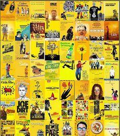 Les affiches de films: du pareil au même! Le jaune est vraisemblablement la couleur des films indépendants.