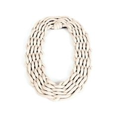 handmade necklace realized with 12 meters of a 100% cotton rope wick