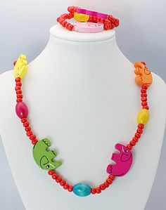Colorful Wooden Jewelry Sets, Necklace & Bracelet Sets for Kid, Children's Day Gifts