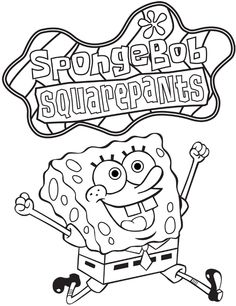 spongebob squarepants free coloring page for kids - Spongebob Coloring Pages Boys