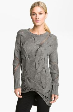Knit inspiration:  MICHAEL Michael Kors Mixed Stitch Sweater  --  Let us embrace our mistakes and call it High Fashion!  I'm all in!