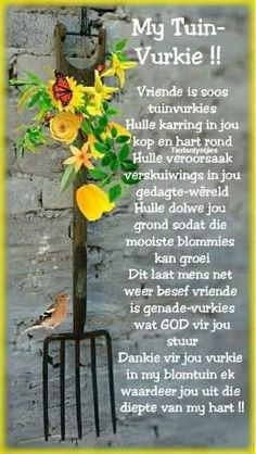 Thank you for your fork in my flower garden. Evening Greetings, Good Morning Greetings, Good Morning Wishes, Lekker Dag, Good Morning Prayer, Afrikaanse Quotes, Certificate Of Appreciation, Goeie Nag, Goeie More