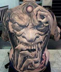 Check out our Demon Tattoos Picture Gallery. Loads of Demon Tattoos for you to get great tattoo ideas or just browse our Demon Tattoo Pictures and enjoy. Creepy Tattoos, 3d Tattoos, Badass Tattoos, Skull Tattoos, Body Art Tattoos, Cool Tattoos, Tatuajes Tattoos, Demon Tattoo, Sick Tattoo