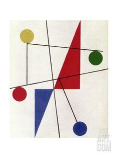 Giclee Print: Untitled, 1932 by Sophie Taeuber-Arp : Mid Century Modern Art, Mid Century Art, Abstract Geometric Art, Geometric Shapes, Art Bauhaus, Famous Abstract Artists, Composition Art, Art Moderne, Arte Pop