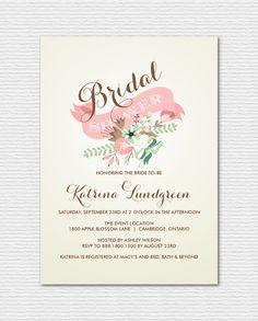 Printable+Bridal+Shower+Invitation++Vintage+by+BelleHanahPaperie,+$17.00