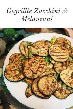 Das gegrillte Gemüse kann als Beilage zu Fisch- und Fleischgerichten serviert werden. #melanzani #zucchini #verduragrigliata #verdura #gegrilltesgemüse #sommer #zucchine #melanzene #gemüse #beilage Food Blogs, Vegan, Vegetables, Cooking, Dinner, Fle, Vegetarian Side Dishes, Healthy Side Dishes, Vegetarian Meals