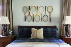 Nice idea with the tennis racquets!